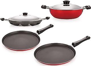 Nirlon Non-Stick Kitchenware Kitchen Cooking Utencil Combo Gift Set, (FT12_DKDM_APPAM_FT11)