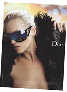 d49871eb00906 Magazine PRINT AD With Kate Moss For Dior Black Mirror Sunglasses