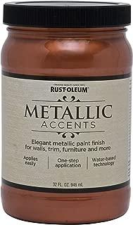 Rust-Oleum 253536 Metallic Accents Paint, Quart, Copper Penny