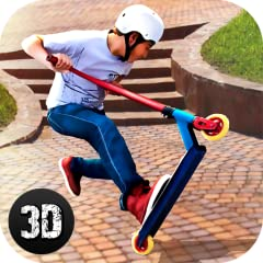Ultimate street racing simulation – on scooter board Different unlockable scooters, tricks, and locations Realistic physics of trampoline jumping Uneasy challenge sets