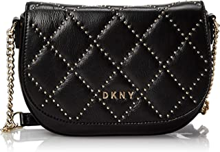DKNY Womens Crossbody, Black (Black/Gold) - R94EUF86