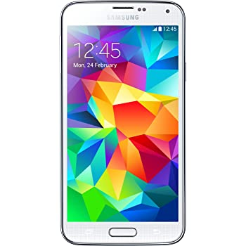 Samsung Galaxy S5 G900H Factory Unlocked Cellphone, Android KitKat 4.4.2 International Version (White)