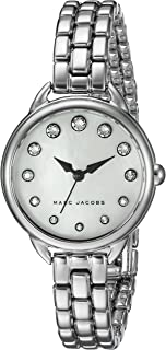 Marc Jacobs Women's Black Dial Stainless Steel Band Watch - Mj3510, Analog Display