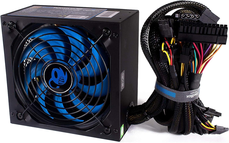 CoolBox DeepPower BR-800 Unidad de - Fuente de alimentación (800 W, 100-240 V, 50-60 Hz, 8 A, 4 A, Activo) Negro