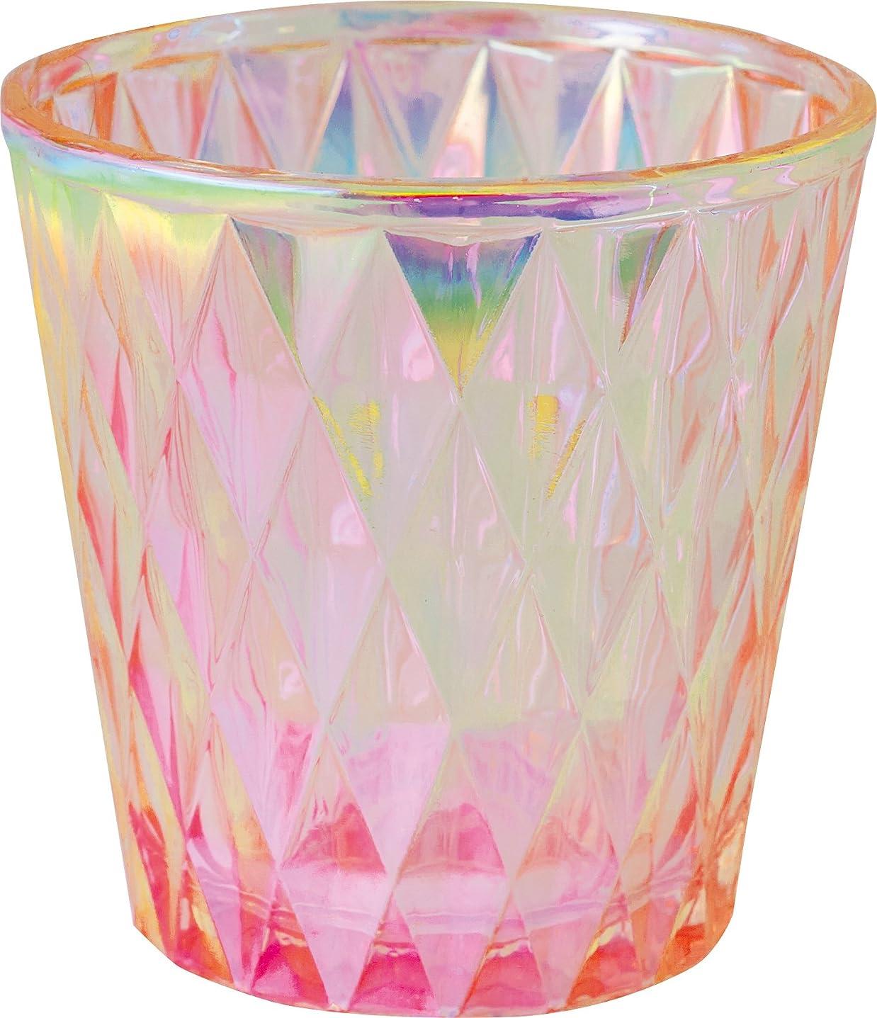 植物の下着繰り返したカメヤマキャンドルハウス オーロラダイヤグラス キャンドルフォルダー ピンク