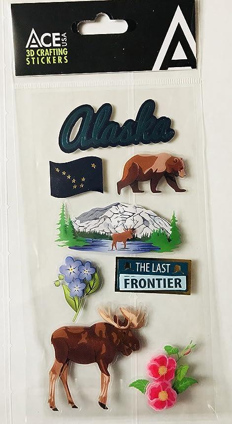 Alaska Scrapbooking Craft Stickers 3-D 8 Piece Set