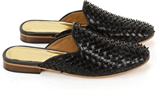Anna Ricci Woven Leather Upper with Full Embellishment