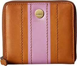 Lodis Accessories Rodeo Stripe RFID Amaya Zip French Wallet