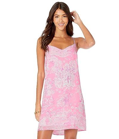 Lilly Pulitzer Dusk Silk Dress (Pink Sorbet Pop Up Skinny Dipping) Women
