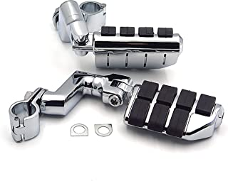 Highway Clamps 1 Large Foot Pegs For YAMAHA V-STAR Roadstar KAWASAKI VULCAN Chromed by XKH