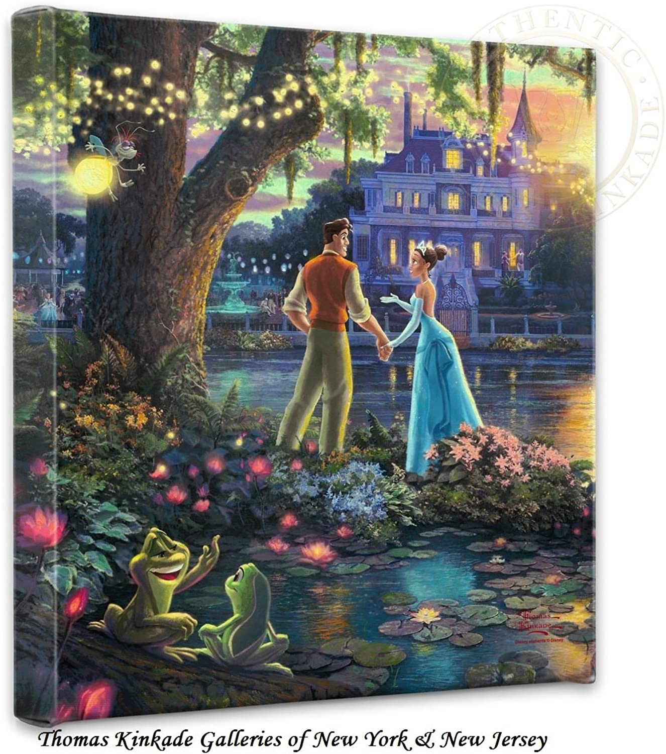 Thomas Kinkade Princess & the Frog 14 x14 x1.5  canvas wrap