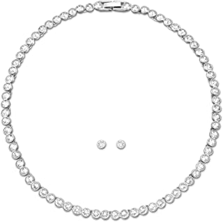 Swarovski set tennis placcatura rodio 5007747