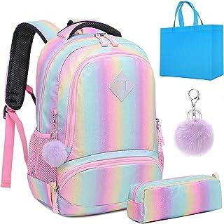 Girls Unicorn Backpack Set 3 in 1 Boys School Backpack 2pcs Sets Kids School Bookbags Elementary School Bag