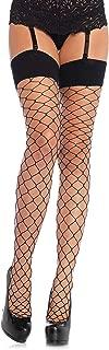 Leg Avenue Women's Plus Size Women's Fashion Wide Fishnet Thigh High Stockings