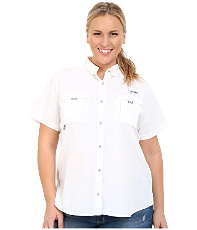 Columbia Plus Size Bahamatm S/S Shirt (White) Women