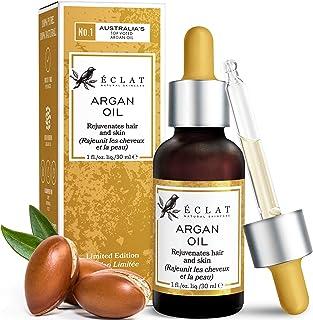 Aceite Argán 100% Eclat – Aceite Argán Natural de Árboles de Argán Marroquíes para Pureza Máxima Aceite Orgánico 100% Vitamina E y Aceites Grasos Omega 6 Rápida Absorción Prensado en Frío