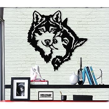 60x26 cm Noir DEKADRON Decadron D/écoration Murale en m/étal Motif Famille de Cerfs 24 W x 10 H