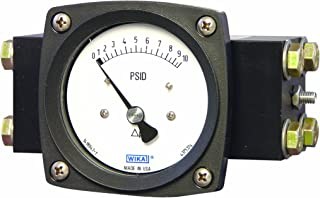 WIKA 4375323 Differential Pressure Gauge, Stainless Steel 316L Wetted Parts, 2-1/2