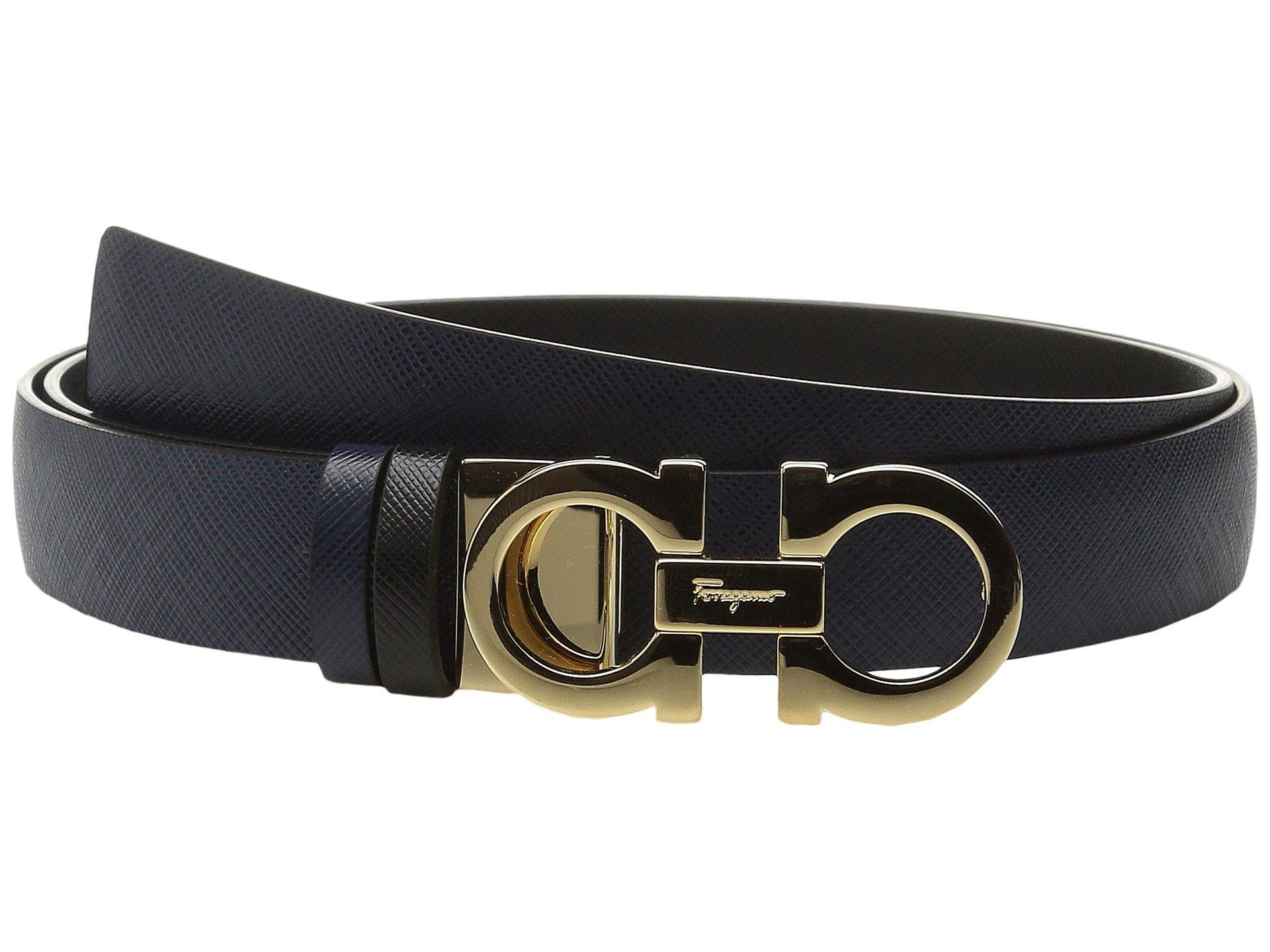 SALVATORE FERRAGAMO 23A565 Double Gancini Belt