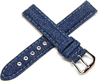 Lucien Piccard 14MM Denim Blue Genuine Leather Watch Strap Band 6.5