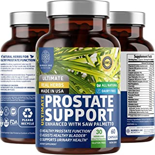 N1N Premium Prostate Supplement for Men [33 Potent Herbs + Saw Palmetto] Naturally Reduces Frequent Urination, Improves Pr...