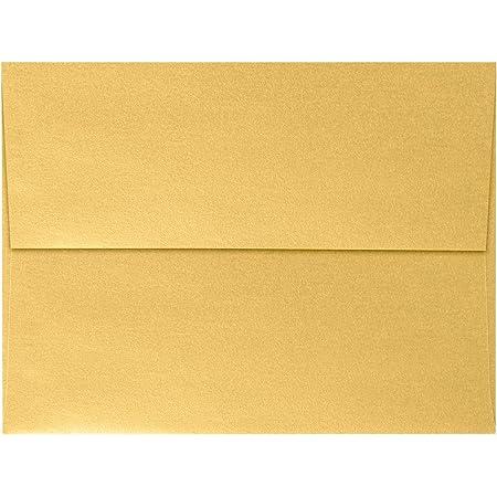 50 Shiny Gold Silver Xmas Card Envelopes Metallic C5 Gummed Christmas Card