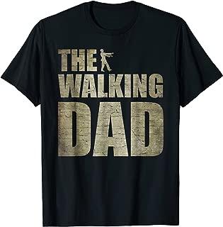 Walking Dad Shirt Zombie Men Father's Day Tee