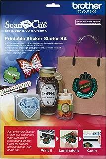 Brother ScanNCut CAPSKIT1 Printable Sticker Starter Kit