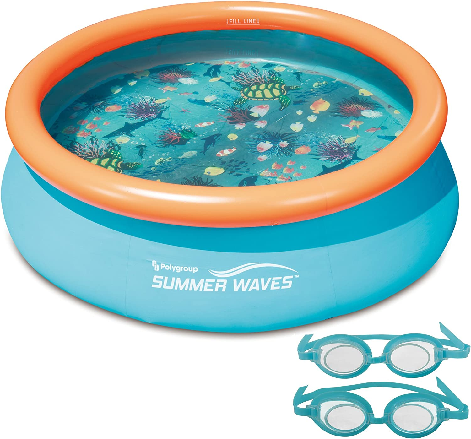 bluee Wave 3D Quick Set Round Family Pool  7ft