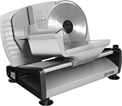 Meat Slicer Electric Deli Food Slicer with Child Lock Protection, Removable 7.5'' Stainless Steel Blade and Food Carriage, Adjustable Thickness Food Slicer Machine for Meat, Cheese, Bread(200W)