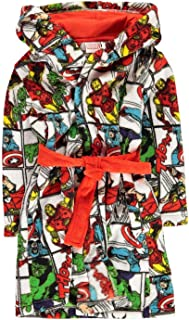 Character Wear Marvel Avengers Fleece Dressing Gown Boys White/Red Pyjama Robe