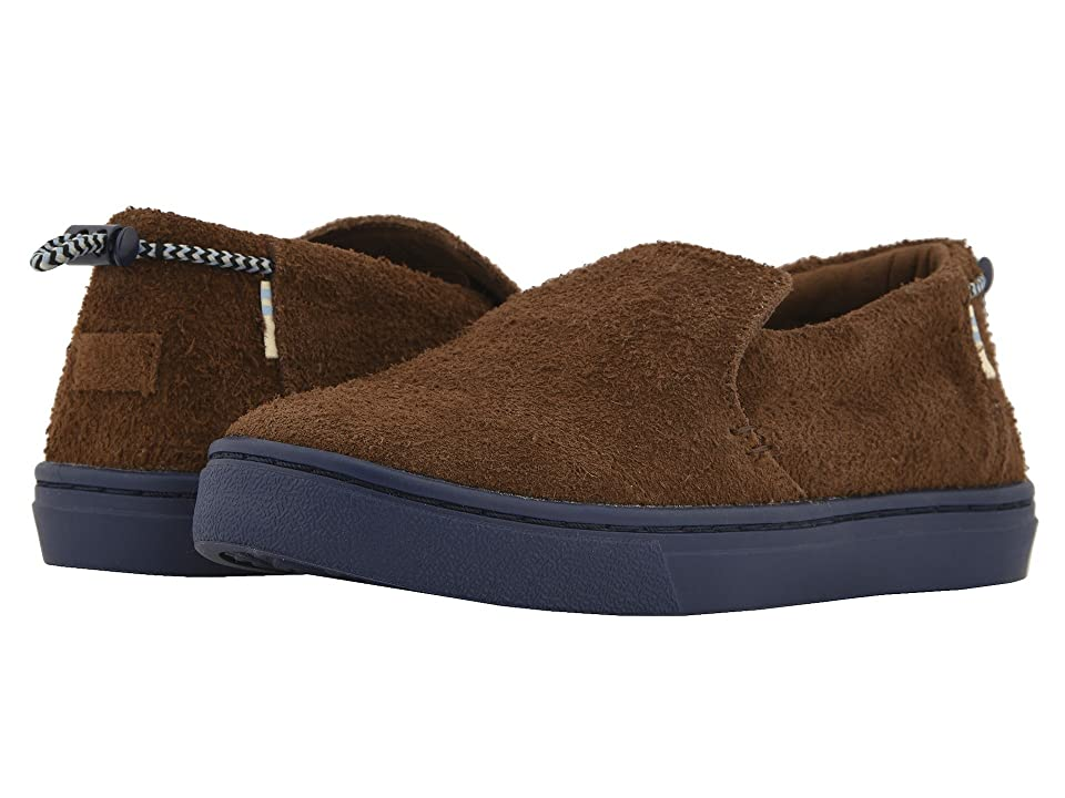 TOMS Kids Paxton (Little Kid/Big Kid) (Bark Shaggy Suede Water Resistant) Kid