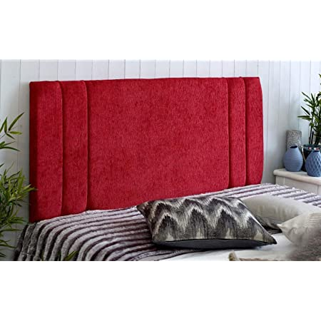 Mink, Small Double 4 FEET, Height 20 INCHES Divan Bed Headboard Rio Padded Chenille Fabric with Supplied Struts and Bolts