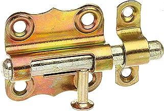 GAH-Alberts 123369 grendel   met knopgreep en zonder veer   elektrolytisch geel verzinkt   plaat 39 x 38 mm   bout-⌀ 8 mm...