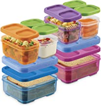 Rubbermaid 2108406 LunchBlox Kids Box and Meal Prep, 2 Pack Set | Stackable & Microwave Safe Lunch Containers | Assorted C...