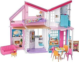 Barbie, Domek Malibu: 2 Poziomy, 6 Pomieszczeń, Funkcje Transformacji Oraz Ponad 25 Akcesoriów FXG57