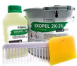 Ekopel 2K Bathtub Refinishing Kit - Odorless DIY Sink And Tub Reglazing Kit - 20X Thicker Than Other Tub Refinishing Kits- No Peel Pour On Tub Coating - Bright Gloss Tub Coating (White)