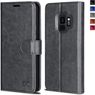 OCASE Samsung Galaxy S9 Case Leather Flip Wallet Case for Samsung Galaxy S9 Devices (Gray)