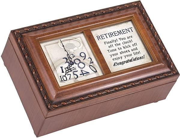 Retirement Off The Clock Enjoy Woodgrain Petite Music Box Plays What A Wonderful World