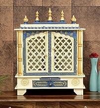 TAM Creatio Wooden Pooja Mandir |Indian| |Hindu| |Decoration| |Puja| |Cabinet| |Temple| |Bhagwan| |Stand| |Mandapam| |Wal...