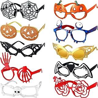 Halloween Brillen Fledermaus Kürbis Brillen Halloween Party Kostüm Brille für Jungen und Mädchen Spielzeug Geschenke