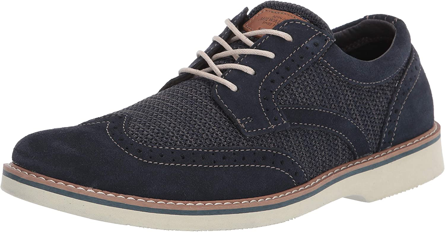 Nunn Bush Men's Barklay Wingtip Suede and Mesh Oxford Lace Up