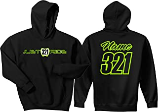 JUST RIDE Motocross Number Plate Custom Personalized Hoodie Sweat Shirt
