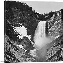 ARTCANVAS Yellowstone Falls - Yellowstone - Wyoming Canvas Art Print by Ansel Adams - 18