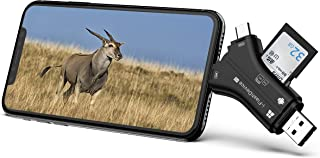 Campark Trail Camera Viewer Compatible with iOS or Android Device, SD and Micro SD Memory Card Reader to View Wildlife Game Camera Hunting Photos or Videos on Smartphone