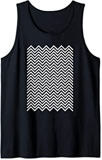 Twin Peaks Black and White Chevron Tank Top