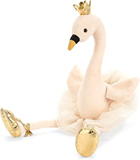 Jellycat Fancy Swan Stuffed Animal, 15 inches