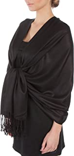 Silky Solid Soft Pashmina Shawl Wrap Stole