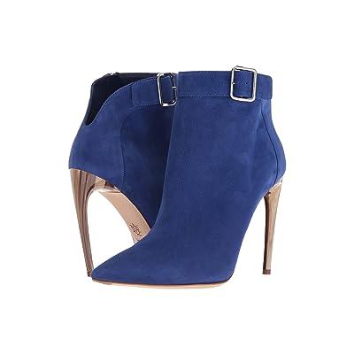 Alexander McQueen Horn Heel Bootie (Saphire) High Heels