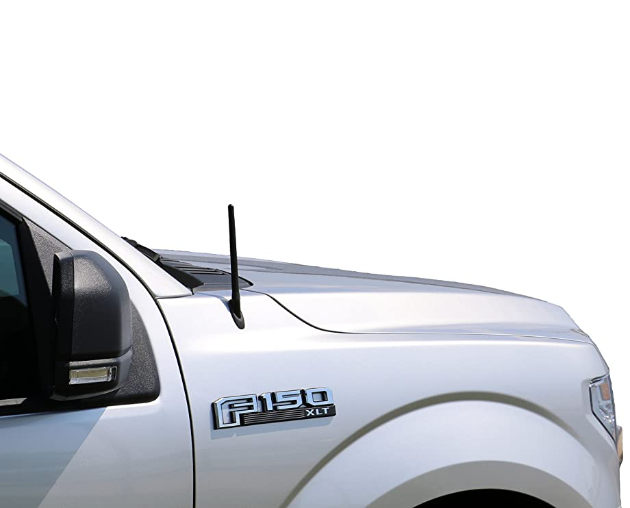 AntennaMastsRus - The Original 6 3/4 INCH is Compatible with Ford F-150 (2009-2019) - Short Rubber Antenna - Reception Guaranteed - German Engineered - Internal Copper Coil